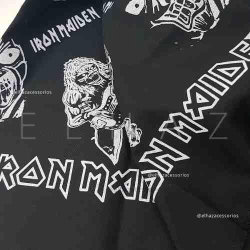 Bandana Iron Maiden Caveira Rock Moto Lenço De Boca