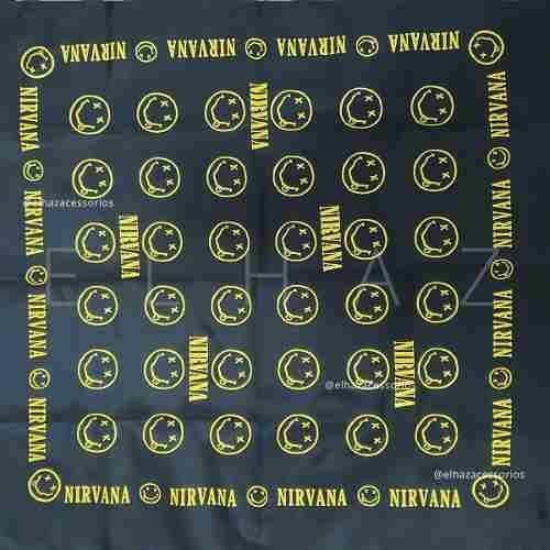 Bandana Nirvana Rock Moto Lenço De Boca
