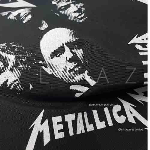 Bandana Metallica Caveira Rock Moto Lenço De Boca