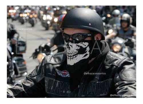 Bandana Caveira Moto Lenço De Boca Motociclista Balaclava