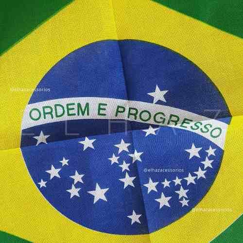 Lenço Bandana Bandeira Brasil Moto Ciclistas Esportes