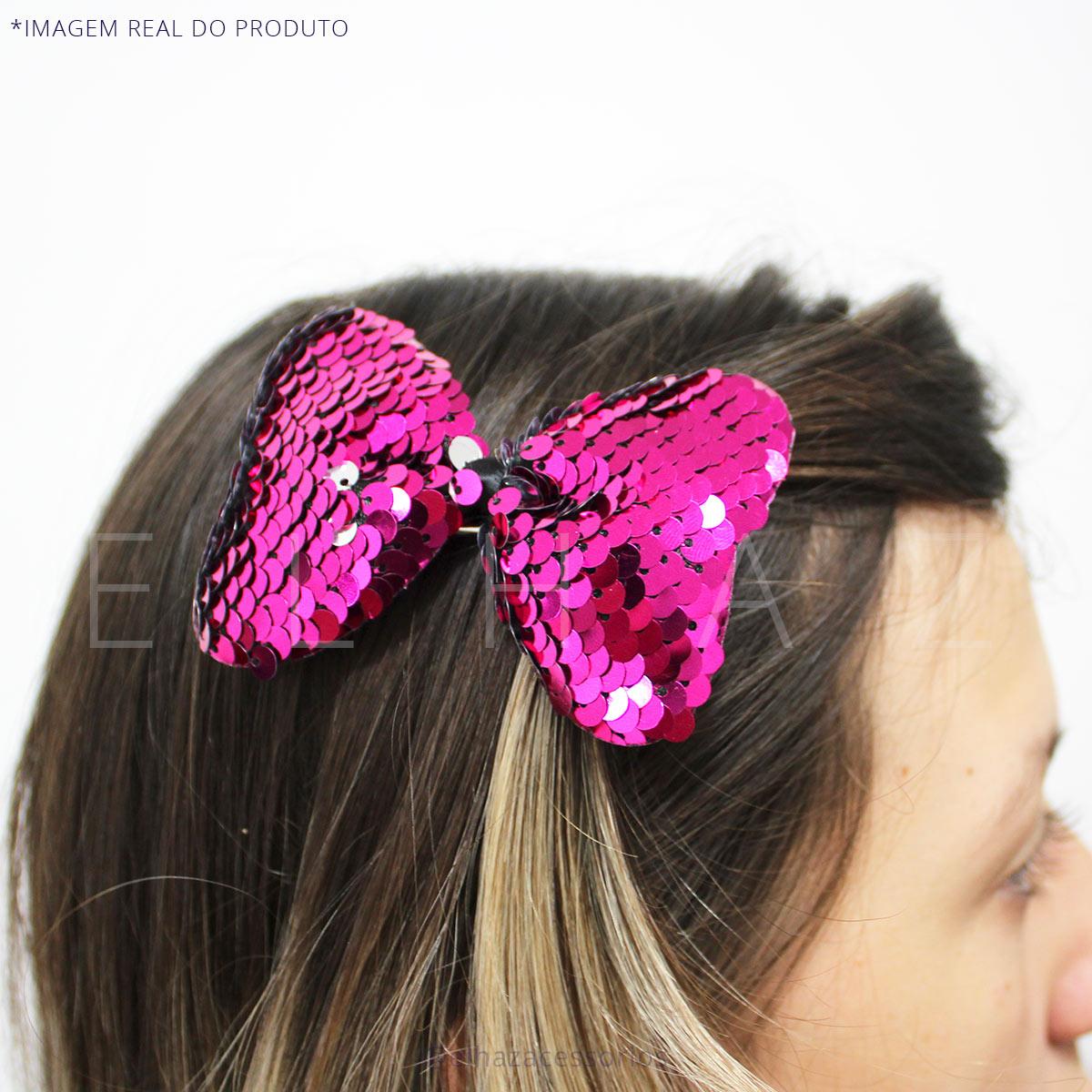 Laços Infantil Paête Bico De Pato - Pink