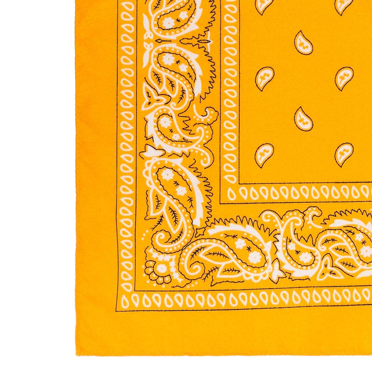 BANDANA ESTAMPA PAISLEY- Amarela
