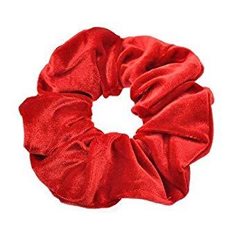 scrunchie vermelha