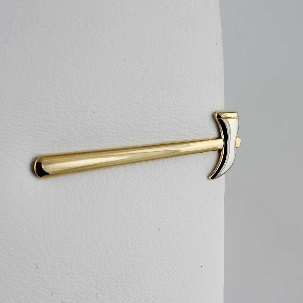 Prendedor de Gravata Formato Martelo - Dourado e Prateado