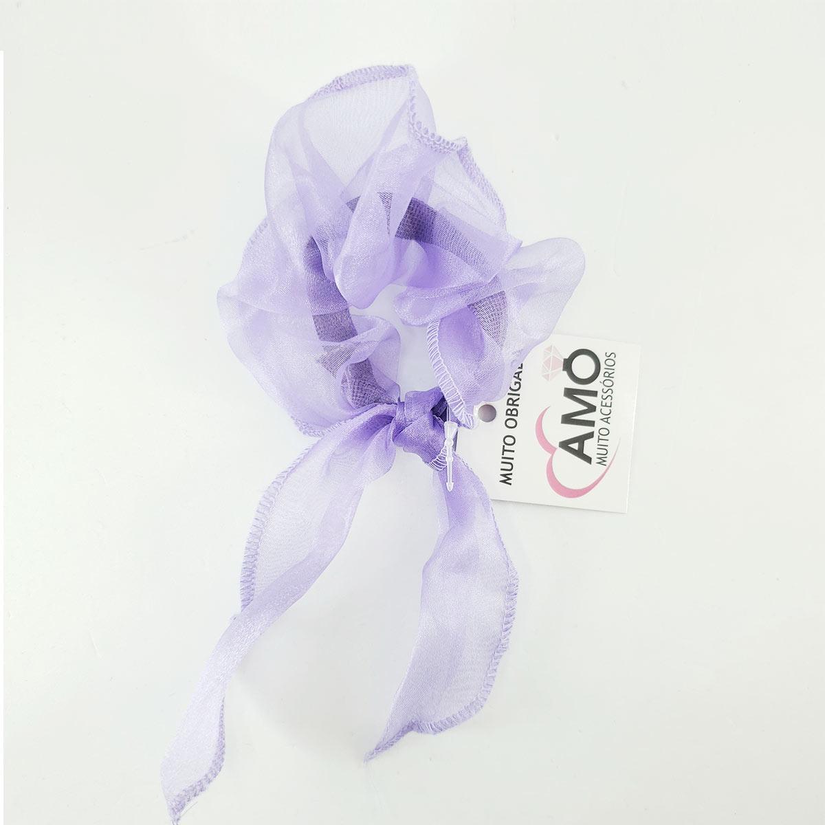 scrunchie lilás