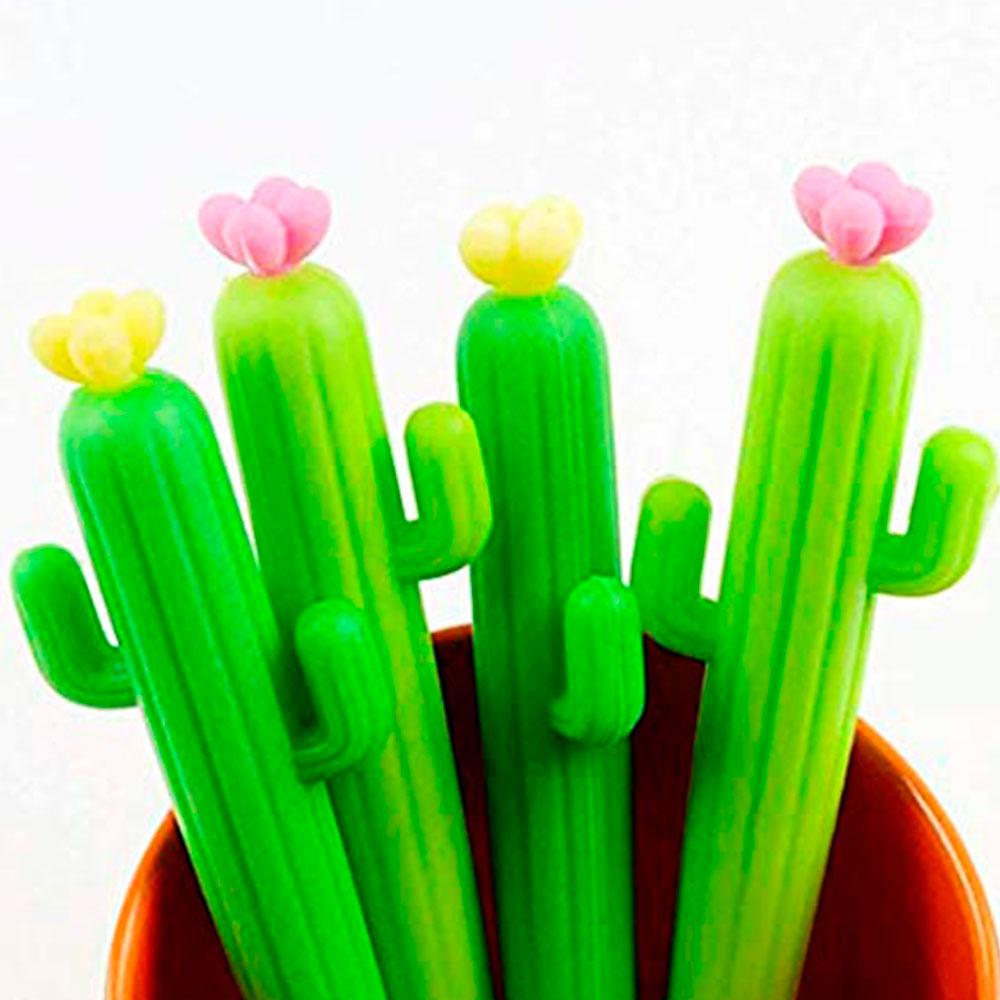 Kit 2 Canetas Cacto Cactus Fashion