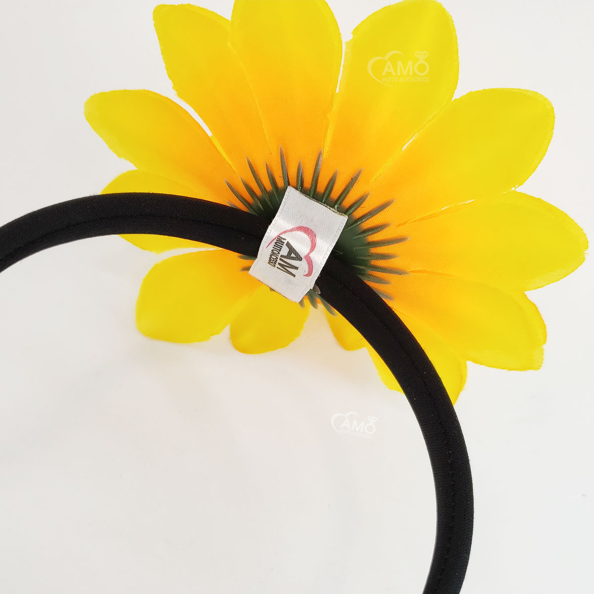 Tiara Girassol Amarelo Carnaval Festa Flor