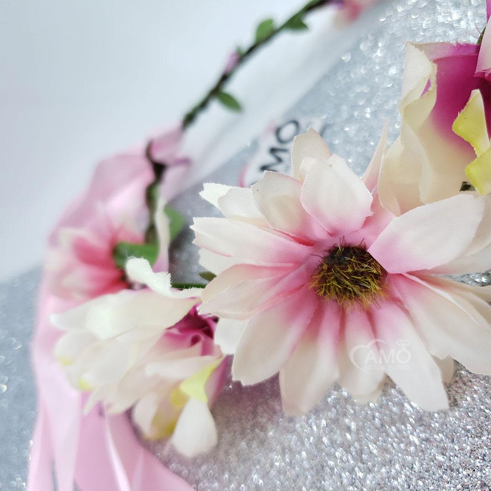 Coroa tiara de flores cabelo