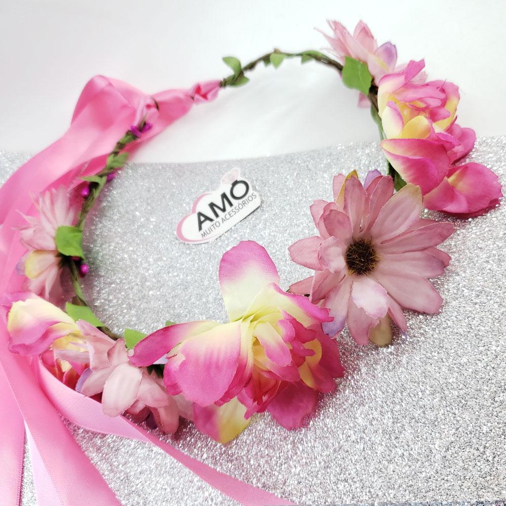 enfeite flores para cabelo
