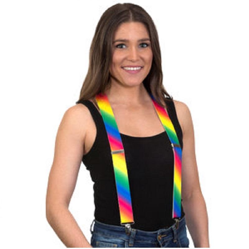 Suspensório colorido arco-iris
