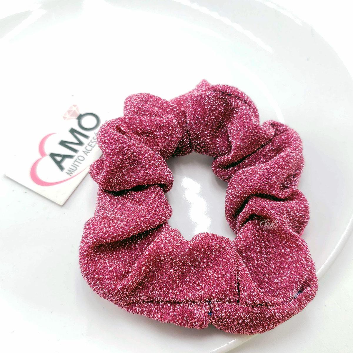 scrunchie pink lurex